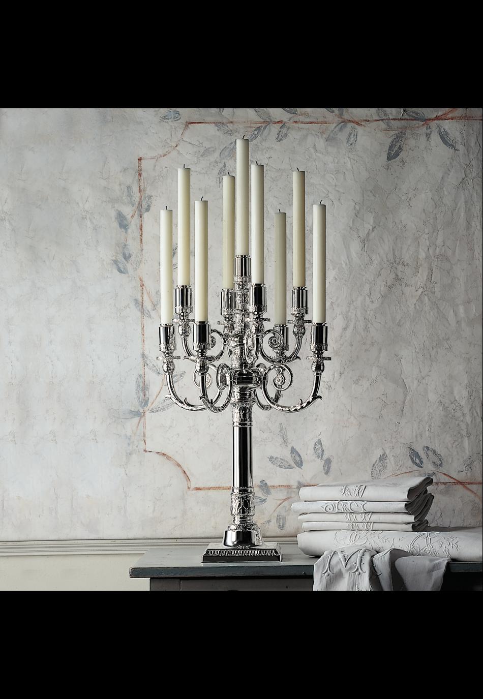 Candelabra & candlesticks