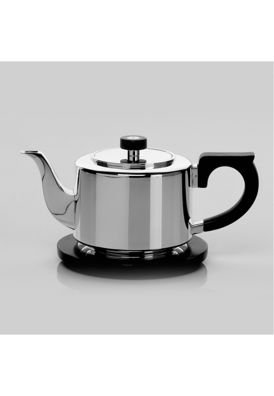 Alta sterling silver 925 stand for tea pot, wood