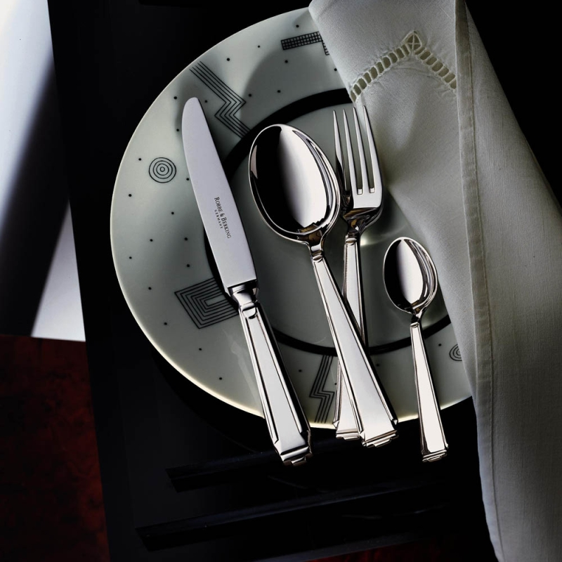 Art Deco sterling silver 925 9-piece serving set