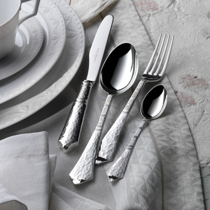 Hermitage 150g silver plated  5 piece place-setting, North American compilation