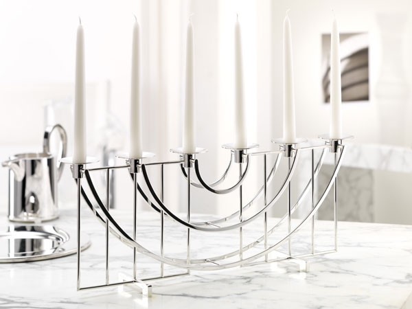 Alta / Sphinx silver plated candelabrum, 6 branches,