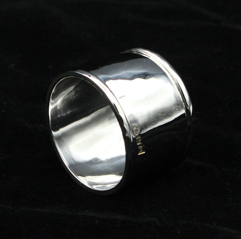 napkin ring, Sterling silver 925, handmade wie soldered wires
