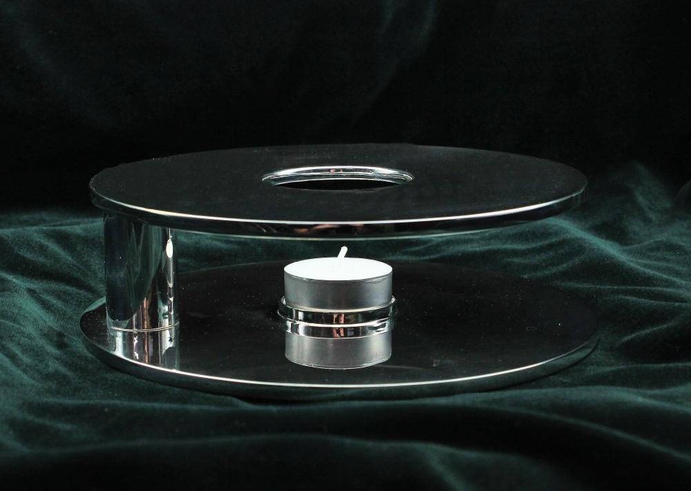 Stövchen, schlicht - 925 Sterlingsilber