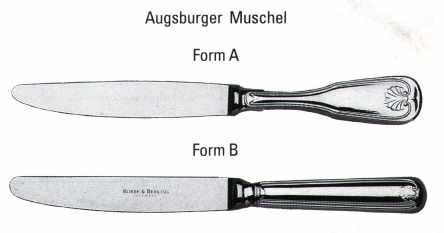 Augsburger Muschel 150 Buttermesser mit Stahlkling