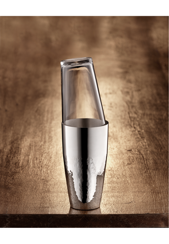 Martelé 90 Cocktailshaker mit Glas