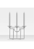 Sphinx candle holder, 3 branches, 90 silver plated