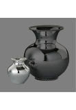 Kordelrand sterling silver 925 vase, small