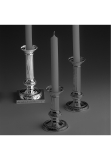 Empire sterling silver 925 candlestick, square base, 18 cm
