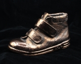 copper plated baby shoe