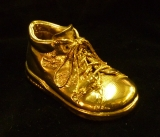 gold plated baby shoe