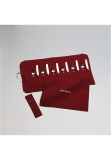 Anti-tarnish cloth pouch for 12 dinner knifes or dinner forks