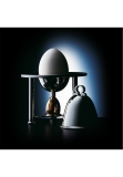 Egg-cup with cover and salt-cellar sterling silver 925