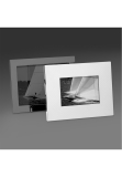 dektop collection picture frame, 9 x 13 cm, hatched, 925 Sterling silver