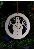 x-mas tree decoration silver plated Snowman