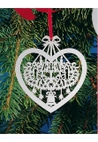x-mas tree decoration silver plated Advent wreath