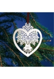 x-mas tree decoration silver plated sheat