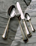 Alt-Chippend. silver plated 150g, part. gold plated, 24 piece dinner set