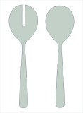 Como stainless steel 18/8 salad serving set, large