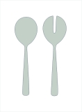 Baltic stainless steel 18/8 salad serving set