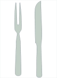 Pax stainless steel 18/8 carving set