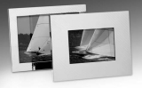 dektop collection picture frame, 9 x 13 cm, hatched, silver plated