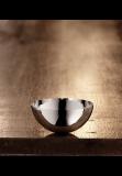 Martele bowl, 10 cm, plain rim, silver plated