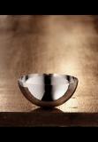Martele bowl, 12 cm, plain rim, silver plated