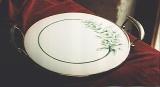 handmade pie platter, sterling silver 925